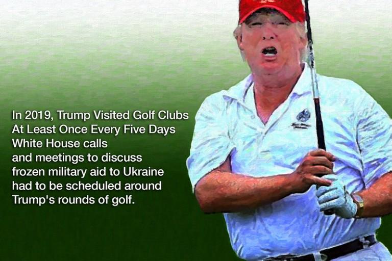 Trump obese golf