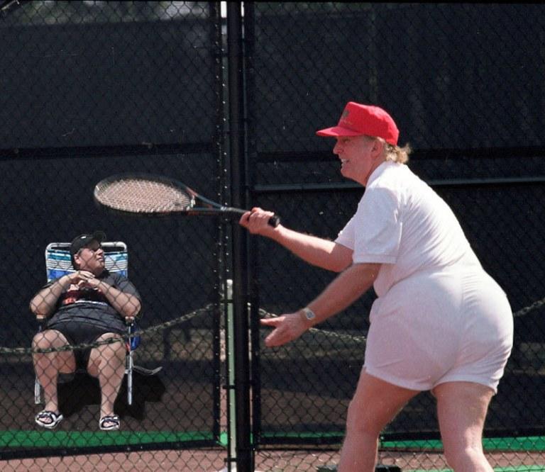 Trump obese